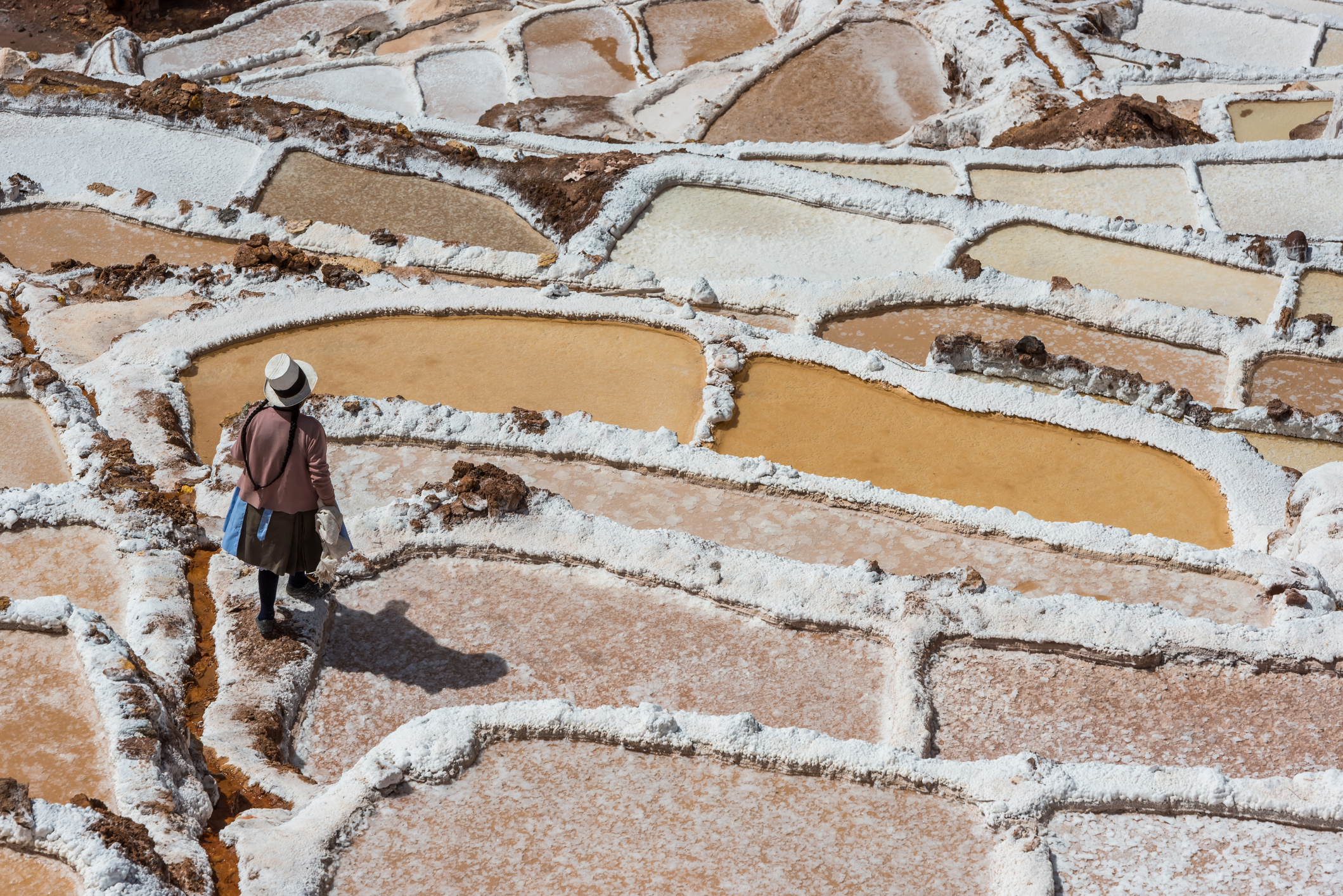 Mine sel Cuzco, Pérou